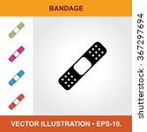 vector icon of bandage with...