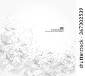 wireframe mesh polygonal... | Shutterstock .eps vector #367302539