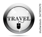 travel icon. internet button on ... | Shutterstock .eps vector #367305470
