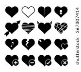 abstract hearth icon set....   Shutterstock .eps vector #367307414