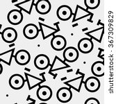 pattern minimal  bicycles ... | Shutterstock .eps vector #367309829