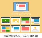 set of vector flat web sites...