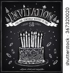 invitation to the birthday...   Shutterstock .eps vector #367320020