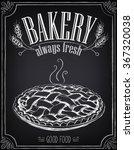 vintage bakery poster. freehand ... | Shutterstock .eps vector #367320038