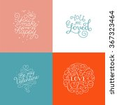 set of vector photo overlay... | Shutterstock .eps vector #367323464