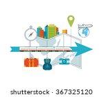train on railway. traveling on... | Shutterstock .eps vector #367325120