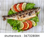 Grilled Trout Barbeque Served...