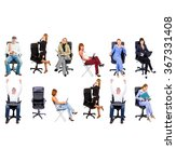 isolated groups people... | Shutterstock . vector #367331408