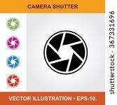 vector icon of camera shutter...   Shutterstock .eps vector #367331696