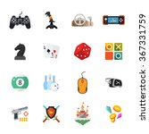 sixteen flat game icons | Shutterstock .eps vector #367331759
