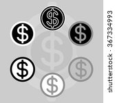 dollar sign. graphical... | Shutterstock .eps vector #367334993