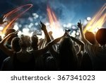 crowd at a concert | Shutterstock . vector #367341023