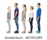 Stock photo group of people from side 367351289
