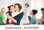 happy teenage student girls... | Shutterstock . vector #367353404