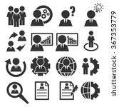 businessman icon set | Shutterstock .eps vector #367353779