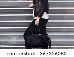 young stylish woman in black... | Shutterstock . vector #367356080