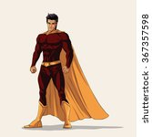 illustration of super heroe in... | Shutterstock .eps vector #367357598