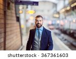 Businessman At The Station