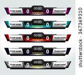 scoreboard elements design for... | Shutterstock .eps vector #367369310