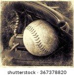 old baseball and glove | Shutterstock . vector #367378820