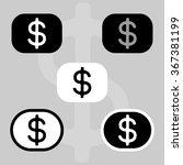 dollar sign. graphical... | Shutterstock .eps vector #367381199