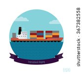 tanker container. the flat... | Shutterstock .eps vector #367382558