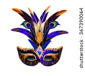 the carnival mask with... | Shutterstock .eps vector #367390064