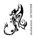black dragon | Shutterstock .eps vector #367392908