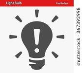 light bulb icon. professional ... | Shutterstock .eps vector #367392998