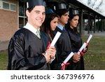 students graduating   Shutterstock . vector #367396976