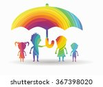 family protected colorful icon | Shutterstock .eps vector #367398020