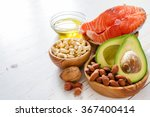 selection of healthy fat... | Shutterstock . vector #367400414