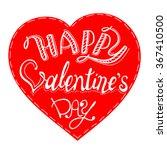 vector happy valentines day...   Shutterstock .eps vector #367410500