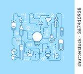vector idea generating process  ...   Shutterstock .eps vector #367410938