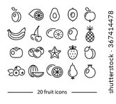 fruit line icons | Shutterstock .eps vector #367414478