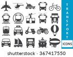 vector transport icons | Shutterstock .eps vector #367417550