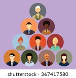 people icons. people flat icons ... | Shutterstock .eps vector #367417580