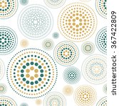 fabric circles abstract... | Shutterstock . vector #367422809