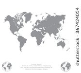 world map illustration | Shutterstock .eps vector #367424054