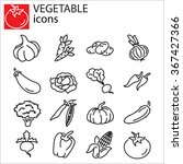 web icons set   vegetables | Shutterstock .eps vector #367427366