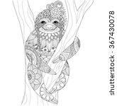 Sloth Zentangle Design For...