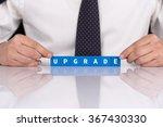 words upgrade with blocks | Shutterstock . vector #367430330