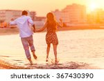 rear view of happy couple... | Shutterstock . vector #367430390