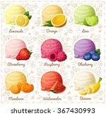 set of cartoon vector icons...   Shutterstock .eps vector #367430993