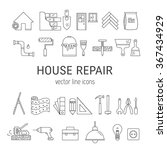 house repair vector line icons  ... | Shutterstock .eps vector #367434929
