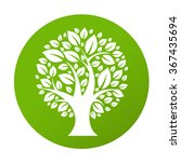 eco tree symbol  vector... | Shutterstock .eps vector #367435694