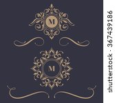floral monograms and borders ... | Shutterstock .eps vector #367439186