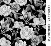 monochrome seamless pattern... | Shutterstock . vector #367440554