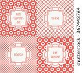 set of red  pink romantic... | Shutterstock .eps vector #367443764
