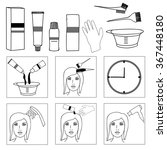 hair coloring  accessories and... | Shutterstock .eps vector #367448180